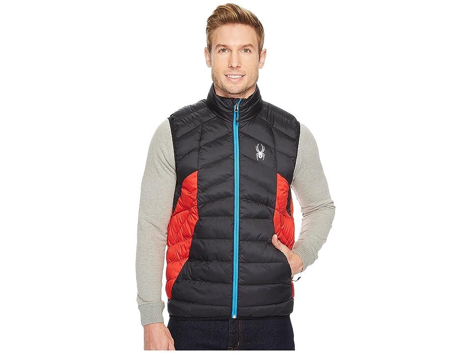 Spyder Geared Synthetic Down Vest (Black/Red) Men