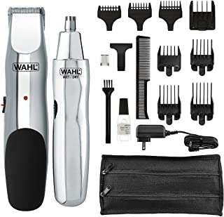 WAHL 5622 Groomsman Rechargeable Beard, Mustache, Hair & Nose Hair Trimmer for Detailing &...