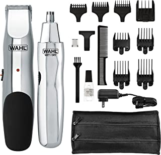 Wahl Groomsman Rechargeable Beard, Mustache, Hair & Nose Hair Trimmer for Detailing & Grooming - Model 5622