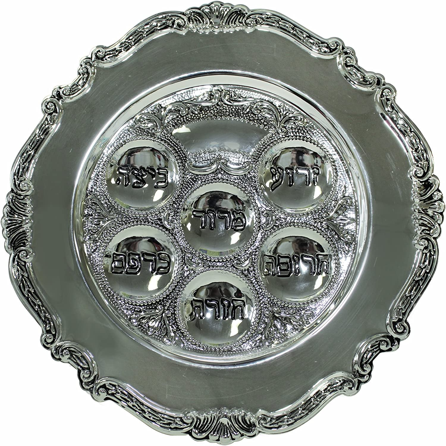 Indianapolis Max 76% OFF Mall Majestic Giftware SPTF12362BL1 Passover Plate Si 12-Inch Seder