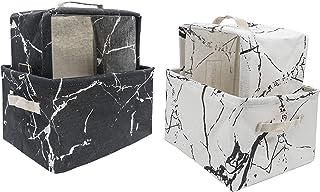 Anzirose Cesta de Almacenaje Cesta Organizadora 26x20x16cm Juego de 4 Storage Basket Set para Guardería Armario Escritorio...