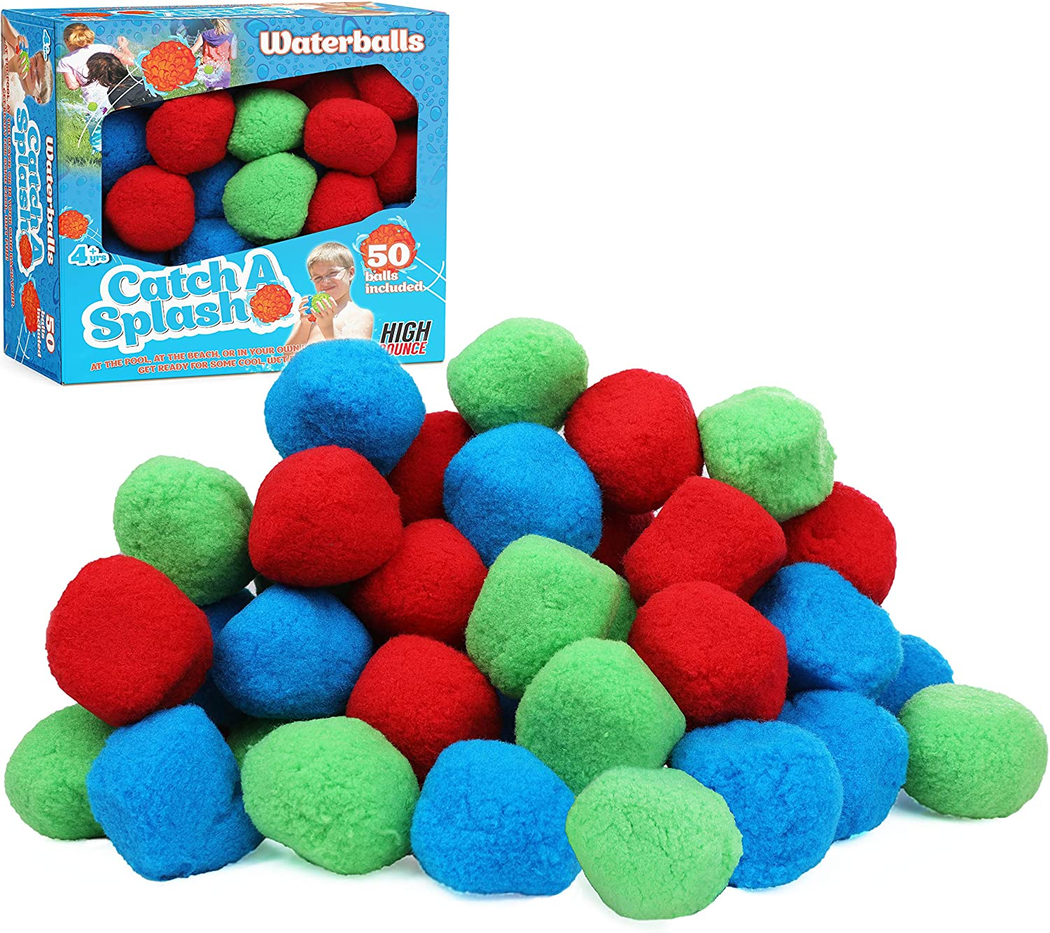 Fashionable High Bounce 50 Reusable Water Balls excellence Cotton Highly Sp - Absorbent