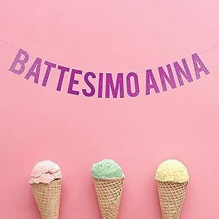 Festone Battesimo Personalizzati Decorazioni Battesimo Bimba Bambino Festoni Festa Nascita Bambina Bimba Bimbo Festoni Nom...