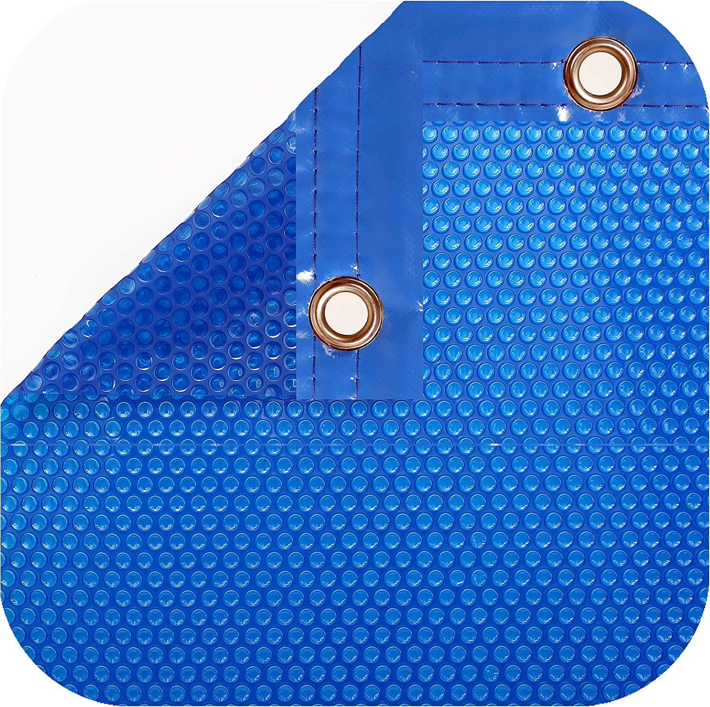 International Pool Protection Pack COBERTOR TÉRMICO DE 600 MICRAS (6x3m) + ENROLLADOR TELESCÓPICO DE 81mm.