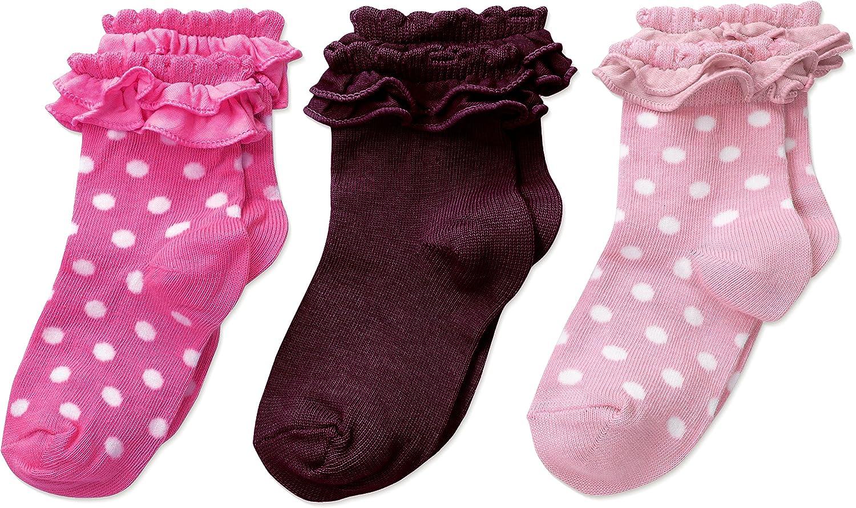 Country Kids Girls' Pima Ruffle Baby Sock 3 Pr