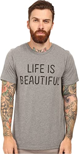 Life is Beautiful - Lib Stack - Crew Neck Tee
