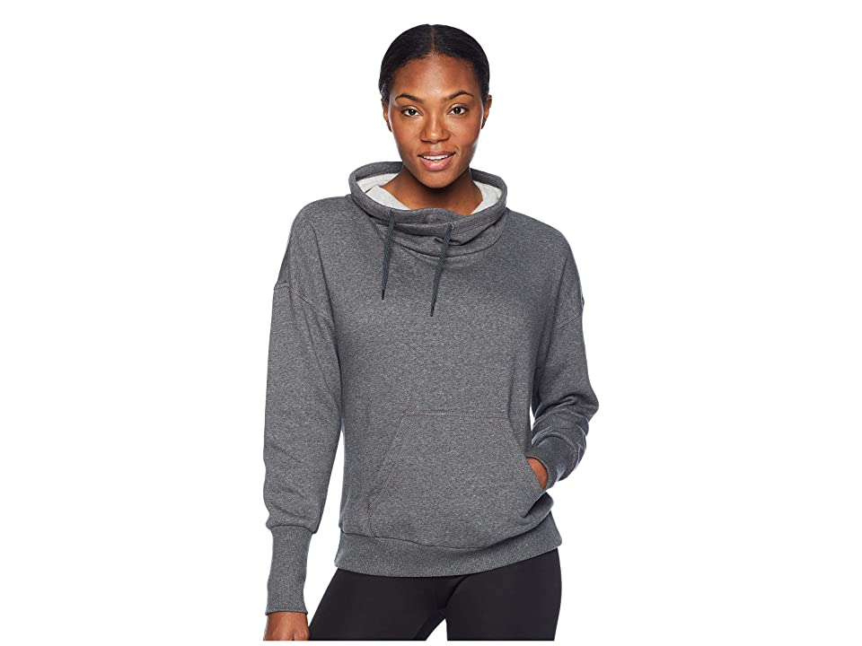 Reebok Fleece Cowl Neck Sweatshirt (Dark Grey Heather) Women