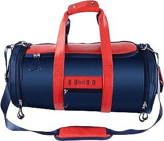 Durable Gym Bag Sports Workout Duffle Bag with Shoes Compartment & Wet Packet Weekender Overnight Bag for Men Women (Dark Blue) Tear Resistant Shoe Pocket Mesh Pockets Adjustable Strap