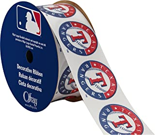 "Offray MLB Texas Rangers Fabric, 1-5/16"" X 9FT Ribbon"
