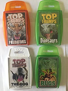 Top Trumps Card Game - Creature - 4-pack Bundle with Bugs, Dinosaurs, Dogs and Predators