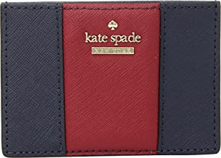 Kate Spade New York Womens Cameron Street Racing Stripe Card Holder