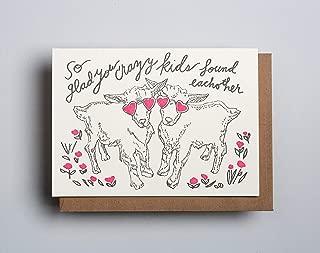 Crazy Kids - Congrats Wedding Letterpress Card