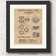 Original Disneyland Mad Tea Cup Ride Patent Poster Prints, Set of 1 (11x14) Unframed Photo, Great Wall Art Decor Gifts Under 15 for Home, Office, Studio, Student, Teacher, Amusement & Theme Park Fan