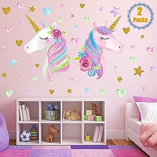 2 Sheets Large Size Unicorn Wall Decor,Removable Unicorn...