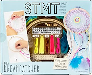 STMT DIY Dream Catcher Kit by Horizon Group Usa, Weave & Create Your Own Dream Catcher, Real Feathers, Wood Beads, Alphabet Beads, Bamboo Embroidery Hoop, Lace Trip, Skeins Included, Vsco Girl Charm