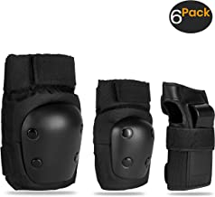 skybulls SKYBLLS Kids Adult Skating Knee Pads Elbow Pads Wrist Guards, Premium Protective Gear Set Skateboard Pads for Skating, BMX Bike, Rollerblading, Cycling, Roller-Skating and Scooter