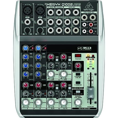 Behringer Q1002USB Xenyx Premium 10-Kanal 2-Bus Mixer mit Mic Preamps/Kompressoren/British EQs und USB/Audio Interface