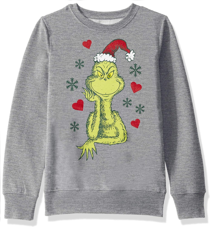Dr. Seuss Girls' Ugly Christmas Crew Sweatshirt
