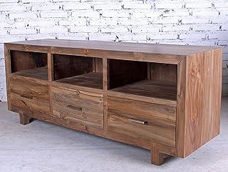 opium outlet - Aparador/cómoda/Mueble bajo para televisor de Estilo Colonial de Madera de Teca