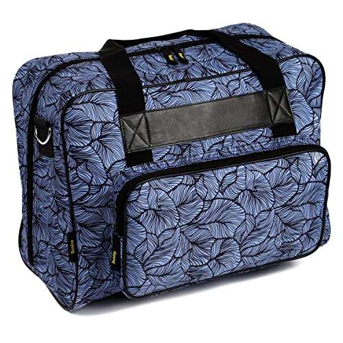 Kenley Sewing Machine Tote Bag - Padded Storage Cover Carrying Case with Pockets and Handles -