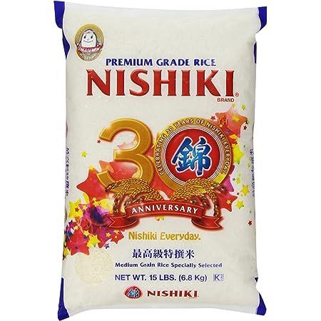 Nishiki Premium Rice, Medium Grain, 15-Pound Bag (packaging may vary) - PACK OF 2