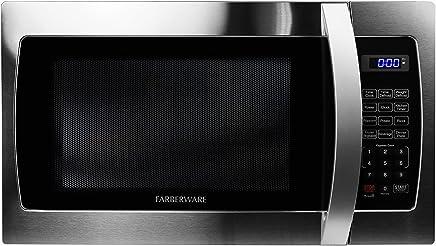 Farberware Professional FMO13AHTBKE 1.3 Cu. Ft. 1000-Watt, Microwave Oven with LED Lighting, Stainless Steel