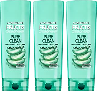 Garnier Hair Care Fructis Pure Clean Conditioner, 12 Fluid Ounce (Packaging May Vary), 3 Count