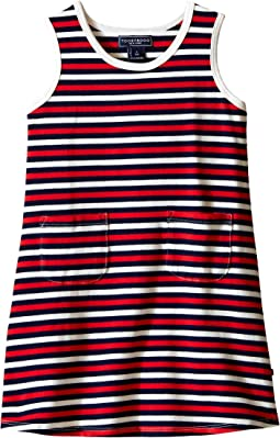 Tank Dress Navy/Red/White Stripe (Infant/Toddler)
