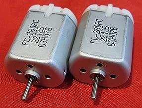 2 Pack - 10mm ROUND SHAFT FC-280PC-22125 Central Door Lock Actuator Motor, ROUND SHAFT, Circle Spindle, Power Locking Repair Engine Replaces Mabuchi