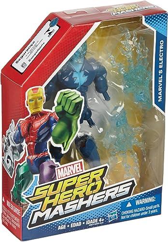 respuestas rápidas Marvel Super Hero Mashers Mashers Mashers Electro 6 Action Figure by Super Hero Mashers  edición limitada