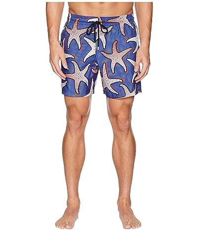 Vilebrequin Mahina Starfish Art Swim Trunk (Neptune) Men