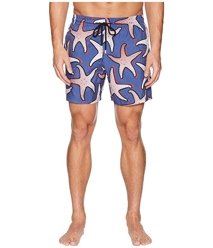Vilebrequin Mahina Starfish Art Swim Trunk (Neptune) Men