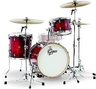 Gretsch Drums CT1-J483-GCB Catalina Club 3 Piece Drum Shell Pack, Gloss Crimson Burst