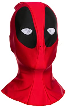 Rubie's mens Deadpool Adult Overhead Fabric Costume Mask, As Shown, One Size US