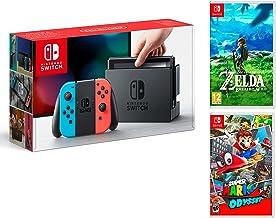 Nintendo Switch Consola 32Gb Azul/Rojo Neón + Super Mario