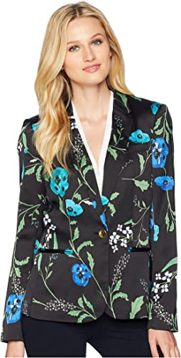 Floral One-Button Jacket