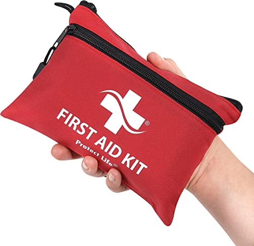 First Aid Kit - 100 Piece - Small First Aid Kit for Camping, Hiking, Backpacking, Travel, Vehicle, Outdoors - Emergen...