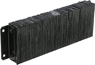 Vestil 1236-4.5 Horizontal Laminated Dock Bumper, Fabric Reinforced Rubber, Rectangular, 4 Holes, 12