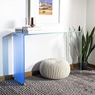 Safavieh Home Collection Crysta Clear and Blue Ombre Glass Console Table,