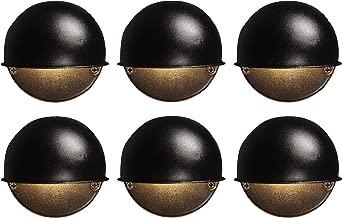 6 Pack Malibu 8301-9400-06 Surface Deck Step Path Lights, Round, Cast Metal, 7 Watt, Black Finish BY MALIBU DISTRIBUTION