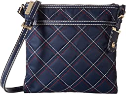 Tommy Hilfiger Julia Large North/South Triple Quilt Nylon Crossbody