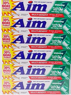Aim Toothpaste 6 oz Tube (pack of 6) Fresh Mint gel