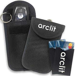 Mydee 2 pcs /Étui de S/écurit/é pour Clef de Voiture Antivol Lock Appareils Protection de la Vie Priv/ée de S/écurit/é WiFi//GSM//LTE//NFC//RF Blocke RFID Signal Blocage Sac