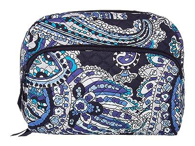 Vera Bradley Iconic Lay Flat Cosmetic (Deep Night Paisley) Handbags