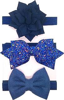 Mom & Beauty Lot 3 Bandeaux Cheveux Élastique Floral Bandeau Bébé Fille Noeud De 6 Mois à 3 Ans