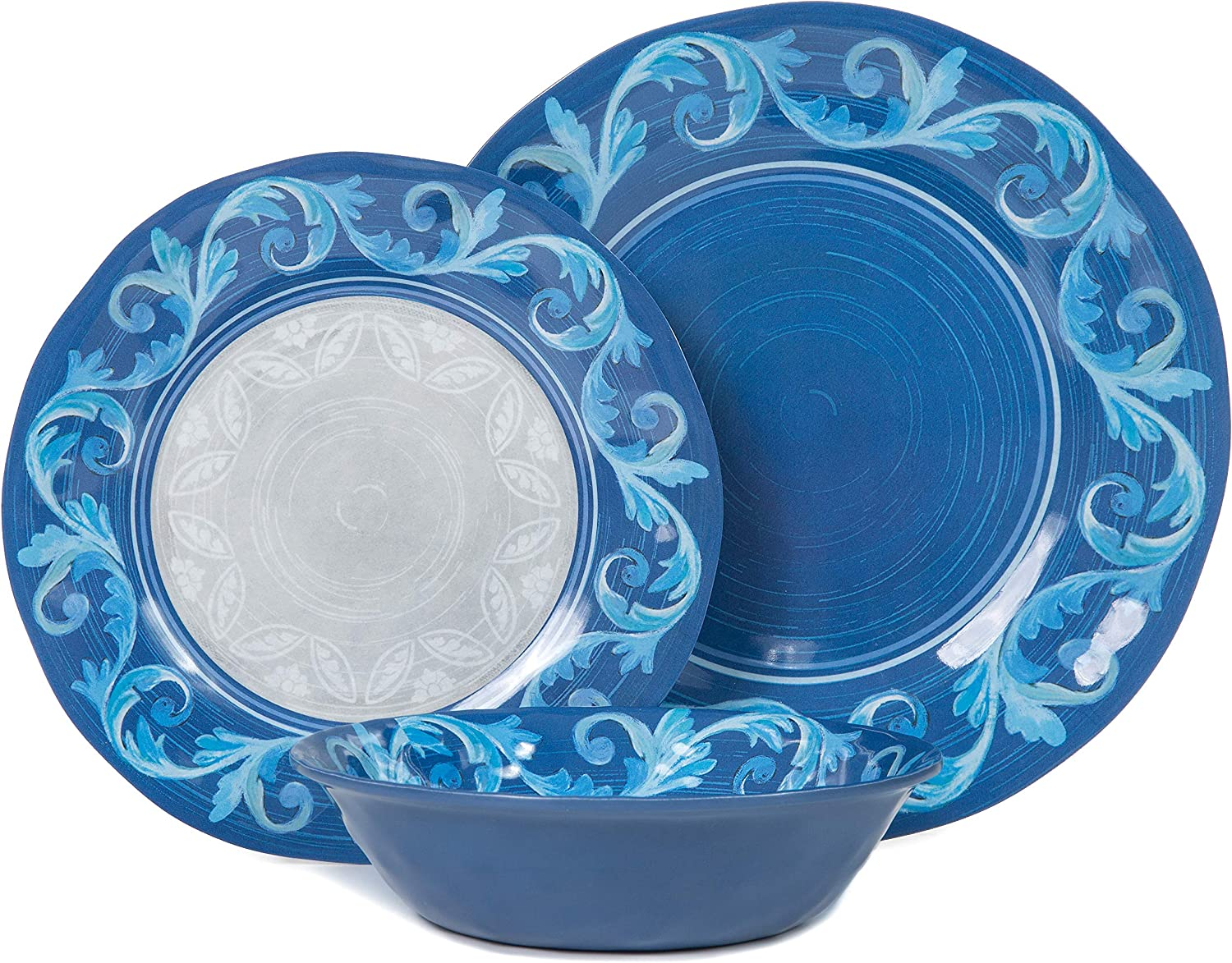 Melamine Plates and Bowls Set - for Virginia Beach Mall 12pcs Our shop OFFers the best service Dishes Dinnerware