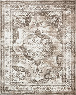Unique Loom 3134099 Sofia Collection Traditional Vintage Beige Area Rug, 8' x 10' Rectangle, Light Brown