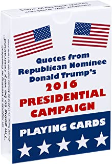 Waggish Works Donald Trump Playing Cards - Presidential Novelty Cards with Trump Quotes and Tweets - Standard 54-Card Deck for Poker, Rummy and More