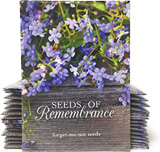 Seeds of Remembrance - Individual Forget Me Not Flower Seed Packet Favors - Rustic Wood - Ready to Give - Pack of 20