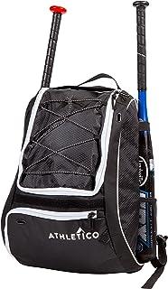کیسه خفاش بیس بال Athletico - کوله پشتی برای تجهیزات بیس بال ، T-Ball و Softball و تجهیزات دنده مخصوص جوانان و بزرگسالان | کفش ، کلاه ایمنی ، دستکش ، کفش | محفظه کفش و قلاب نرده ای را نگه می دارد